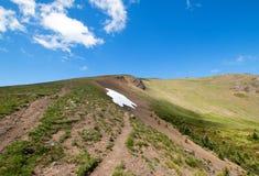 Collina/Ridge di uragano in parco nazionale olimpico nello Stato del Washington U.S.A. Fotografia Stock Libera da Diritti