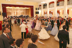 Collina rossa - Assemblea di nobiltà di Mosca della sfera della sorgente Fotografie Stock Libere da Diritti