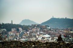 Collina sola Filippopoli, Bulgaria Fotografie Stock