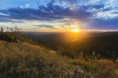 Collina sudorientale di tramonto fotografie stock