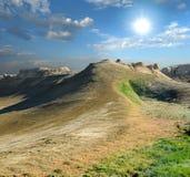 Collina sul plateau Shalkar-Nura Immagine Stock