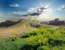 Collina sul plateau Ustyurt Fotografia Stock Libera da Diritti