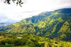 Collina sulla valle di Enrekang Fotografia Stock Libera da Diritti