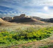 Collina sulle montagne Ustyurt Immagini Stock Libere da Diritti