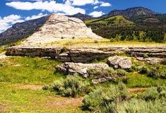 Collina Yellowstone N della soda P fotografia stock libera da diritti