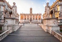 Colline aka Piazza del Campidoglio de Capitolium à Rome, Italie photos stock