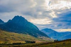 Colline al parco nazionale di Snowdonia in Galles Fotografie Stock Libere da Diritti