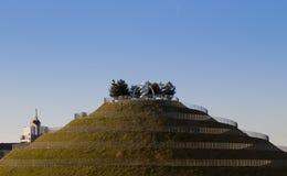 Colline avec le chemin en spirale en parc de Portello - parc industriel d'alpha Photo stock
