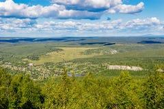 Colline boscose da un'altezza Fotografie Stock Libere da Diritti