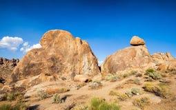 Colline California dell'Alabama di formazioni rocciose Fotografia Stock