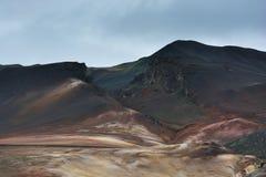 Colline colorate ad area di Hverarond, Islanda Immagini Stock Libere da Diritti