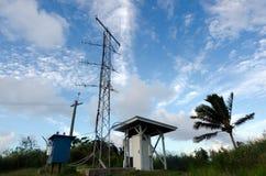 Colline d'unité centrale de Maunga dans le cuisinier Islands de lagune d'Aitutaki Images libres de droits