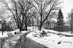 Colline de bastion, Riga, hiver Photographie stock libre de droits