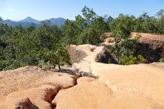 Colline de canyon en Thaïlande rurale Images stock