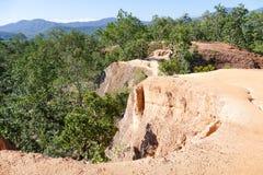 Colline de canyon en Thaïlande rurale Photographie stock