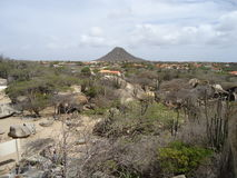 Colline de Jamanota le plus haut dans Aruba Photo stock