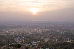 Colline de Mandalay Photo libre de droits