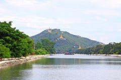 Colline de Mandalay, Mandalay, Myanmar Photos stock