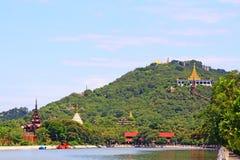 Colline de Mandalay, Mandalay, Myanmar Images libres de droits