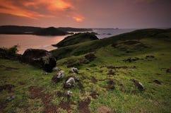 Colline de Merese de lever de soleil photo libre de droits