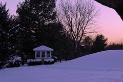 Colline de neige photographie stock