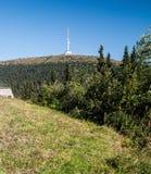 Colline de Praded en montagnes de Jeseniky d'été dans la République Tchèque Image libre de droits