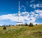 Colline de Praded en montagnes de Jeseniky dans la République Tchèque Photo libre de droits