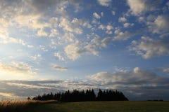 Colline de région boisée Image libre de droits