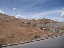 Colline de rico de Cerro avec les mines argentées dans Potosi Photographie stock