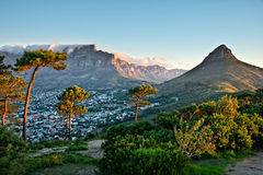 Colline de signal, Cape Town, Afrique du Sud Photos libres de droits