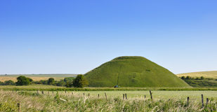 Colline de Silbury. Héritage anglais Photo stock