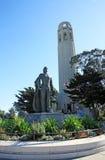 Colline de télégraphe à San Francisco, Etats-Unis photos stock