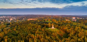Colline de trois croix à Vilnius photographie stock libre de droits