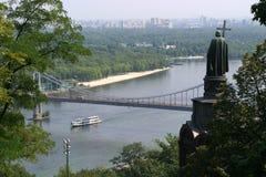 Colline de Vladimirskaya à Kiev image libre de droits