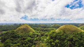 Colline del cioccolato all'isola di Bohol di Filippine archivi video
