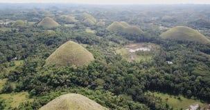 Colline del cioccolato sull'isola di Bohol archivi video