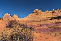 Colline del sud del coyote, monumento nazionale delle scogliere del vermiglio Fotografie Stock