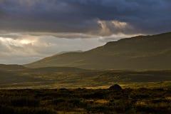Colline dell'erba della montagna drammatiche Immagini Stock