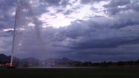 Colline della fontana, fontana del parco dell'Arizona stock footage
