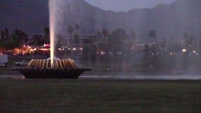 Colline della fontana, fontana del parco dell'Arizona video d archivio