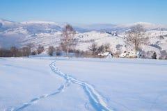 Colline della montagna di inverno Fotografia Stock