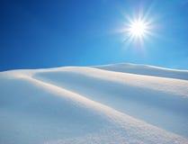 Colline della neve Immagini Stock