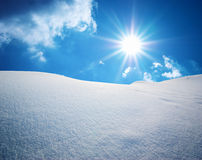 Colline della neve. Fotografia Stock