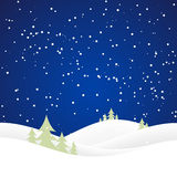 Colline della neve di Natale Immagini Stock Libere da Diritti