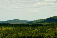 Colline della Siberia Fotografia Stock Libera da Diritti