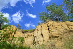 Colline della steppa Fotografie Stock