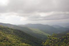 Colline delle montagne di Smokey Fotografie Stock Libere da Diritti