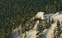 Colline dello Snowy Fotografia Stock Libera da Diritti