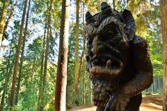 Colline des sorcières Juodkranté lithuania Photographie stock libre de droits