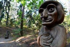 Colline des sorcières Juodkranté lithuania Photo libre de droits